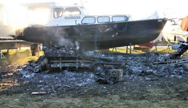 Brand einer Yacht